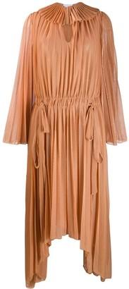 Atu Body Couture Pleated Asymmetric Dress