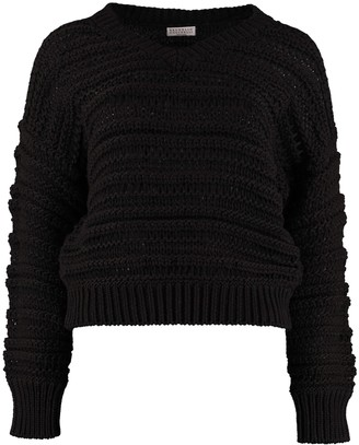 Brunello Cucinelli Tricot-knit Cotton Sweater