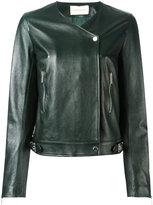 Christopher Kane biker jacket - women - Leather/Viscose - 44