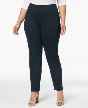 Charter Club Plus Size Ponte-Knit Pants, Created for Macy's