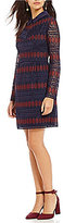 Trina Turk Rodin Lace Long Sleeve Sheath Dress