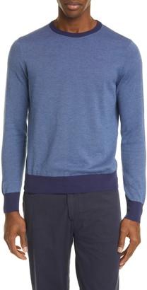 Canali Classic Fit Dot Cotton Crewneck Sweater