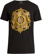 Balmain Medal-print Crew-neck Cotton T-shirt