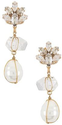 Anton Heunis Quartz and Pearl Pendant Earring
