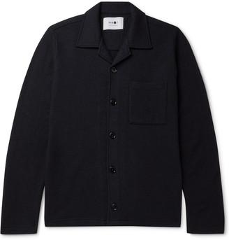 NN07 Miyagi Camp-Collar Boiled-Wool Overshirt