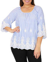 Wite+ BANKER EMBROIDERED TOP