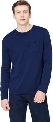 Find. Amazon Brand Men's Cotton Pocket Crew Neck Jumper