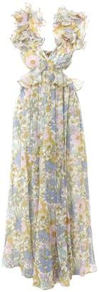 Zimmermann Super Eight Floral Ruffled Maxi Dress