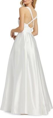 Mac Duggal Empire Satin Gown