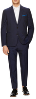 Paul Smith Wool Striped Tailored Fit 2-Button Suit