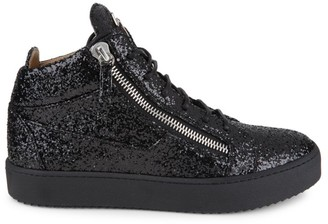 Giuseppe Zanotti Glitter High-Top Zip Sneakers