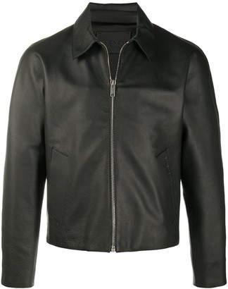 Givenchy Spread Collar Leather Jacket
