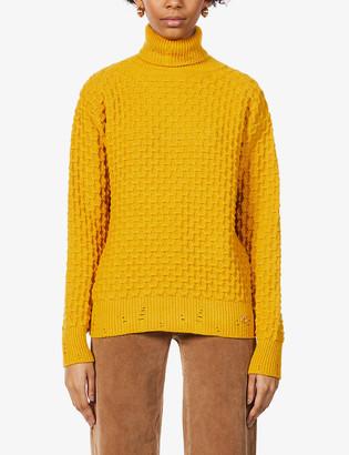 Pinko Nuvolosita textured woven-knit jumper