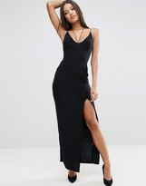 Club L Strappy Maxi Dress With Thigh Split