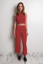 Donna Mizani High Mock Neck Crop Top