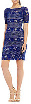 Adrianna Papell Petite Corded Lace Sheath Dress