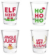 Twos Company Two'S Company 4-Piece Holiday Shot Glass Set