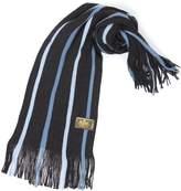 Rio Terra Men's Knit Winter Scarf - Silver & Grey