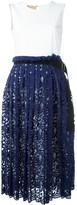 Cavallini Erika lace trim dress