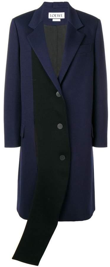 Loewe contrasting panel coat