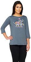 Bob Mackie Bob Mackie's Printed Elephant T-shirt
