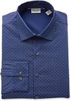Kenneth Cole Reaction Men's Technicole Slim Fit Stretch Dash Print Dress Shirt