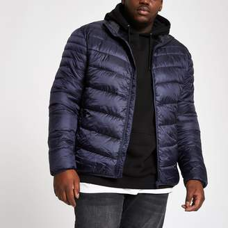 River Island Mens Big and Tall Navy puffer jacket