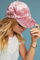 Anthropologie Crushed Velvet Baseball Cap
