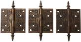 Rejuvenation Set of 3 Large Victorian Door Hinges w/ Steeple Tips