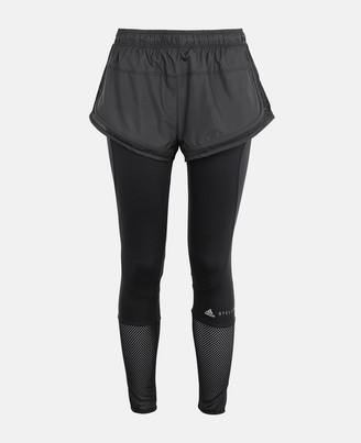 Stella McCartney Black Performance Essentials Shorts over Tight, Women's