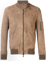 Desa Collection - leather bomber jacket - men - Cotton/Leather - 46