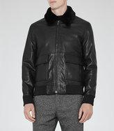 Reiss River Faux Fur Collar Jacket