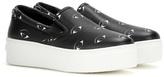Kenzo Platform Printed Leather Slip-on Sneakers