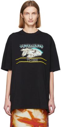 Vetements Black STAR WARS Edition Millennium Falcon T-Shirt