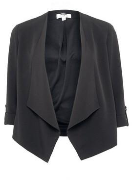 Dorothy Perkins Womens Dp Petite Black Waterfall Jacket, Black