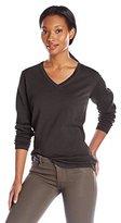 Dockers Women's V-Neck Cotton Sweater