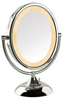 Jerdon 8X Oval Lighted Table Top Mirror