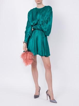 Dolman Sleeves Minidress Green
