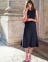 Eleana Knitted Dress Navy Women Boden