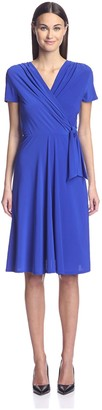 Society New York Women's Cap Sleeve Surplice Dress