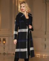 Helene Berman Large Plaid Thrown On Coat