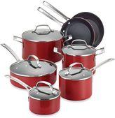 Circulon Genesis™ Aluminum Nonstick 12-Piece Cookware Set and Open Stock in Red