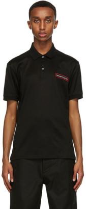 Alexander McQueen Black Logo Applique Polo