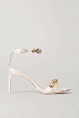 Sophia Webster Aaliyah Crystal-embellished Satin Sandals - Ivory