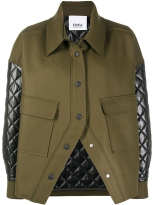Erika Cavallini Quilted Detail Virgin Wool Mix Jacket