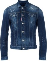 DSQUARED2 paint splatted denim jacket