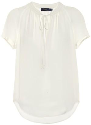 Polo Ralph Lauren Silk crepe de chine top