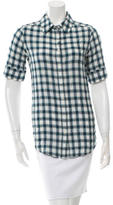 Elizabeth and James Plaid Short Sleeve Top