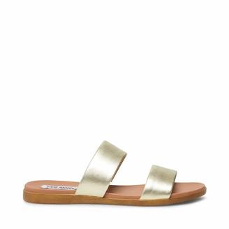 Steve Madden Women's Dual Gold Leather Sandal 9 US