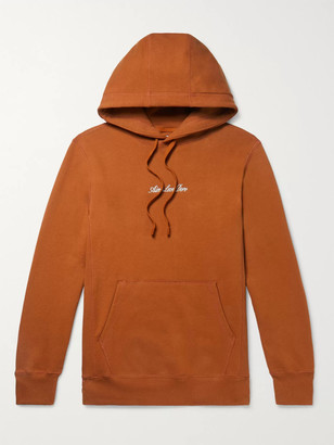 Aimé Leon Dore Slim-Fit Logo-Embroidered Loopback Cotton-Jersey Hoodie - Men - Brown
